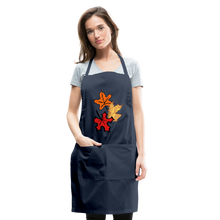 Load image into Gallery viewer, Maple Leaves Adjustable Apron - navy