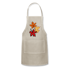 Load image into Gallery viewer, Maple Leaves Adjustable Apron - natural