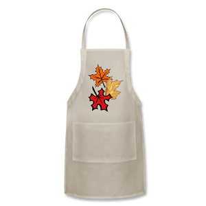Maple Leaves Adjustable Apron - natural