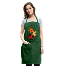 Load image into Gallery viewer, Maple Leaves Adjustable Apron - forest green