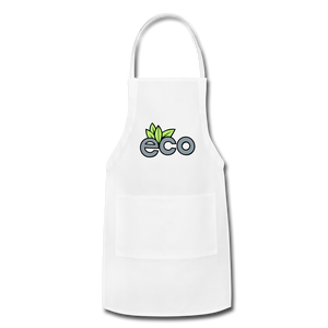 Eco Friendly Adjustable Apron - white