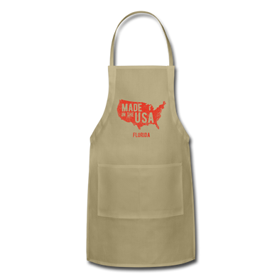 Made in USA Adjustable Apron - khaki