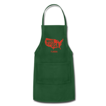 Load image into Gallery viewer, Made in USA Adjustable Apron - forest green