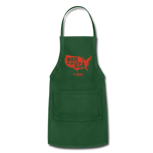 Made in USA Adjustable Apron - forest green