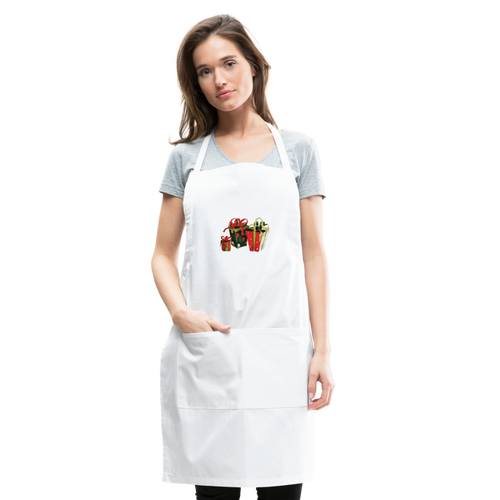 Christmas Gifts Adjustable Apron - white