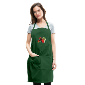 Christmas Gifts Adjustable Apron - forest green