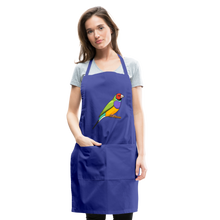Load image into Gallery viewer, Bird Adjustable Apron - royal blue