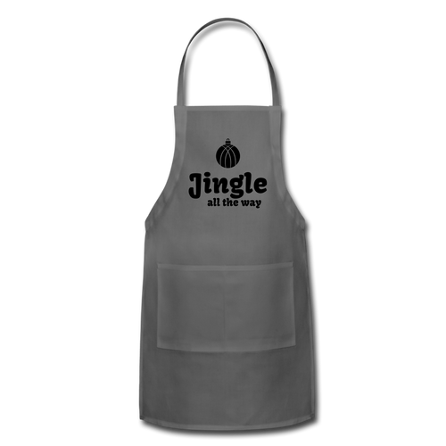 Jingle All the Way Adjustable Apron - charcoal