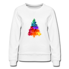 Load image into Gallery viewer, Christmas Tree Crew Neck Sweatshirt - white