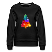 Load image into Gallery viewer, Christmas Tree Crew Neck Sweatshirt - black