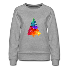 Load image into Gallery viewer, Christmas Tree Crew Neck Sweatshirt - heather gray