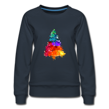 Load image into Gallery viewer, Christmas Tree Crew Neck Sweatshirt - navy