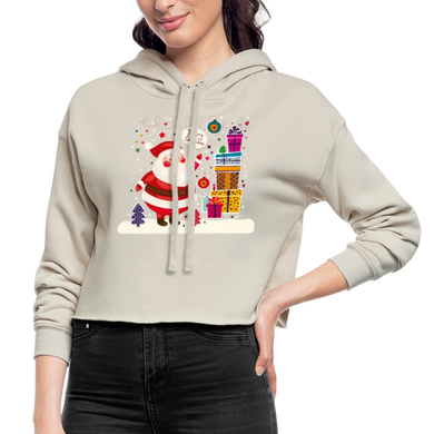 Christmas Gifts Cropped Hoodie - dust