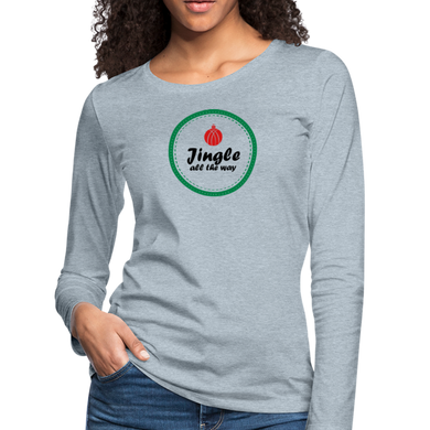 Jingle All The Way Long Sleeve T-Shirt - heather ice blue