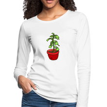 Load image into Gallery viewer, Money Tree Slim Fit Long Sleeve T-Shirt - white