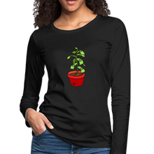 Load image into Gallery viewer, Money Tree Slim Fit Long Sleeve T-Shirt - black