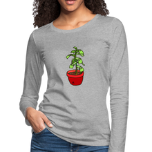 Load image into Gallery viewer, Money Tree Slim Fit Long Sleeve T-Shirt - heather gray