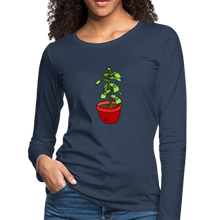 Load image into Gallery viewer, Money Tree Slim Fit Long Sleeve T-Shirt - navy