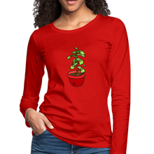 Load image into Gallery viewer, Money Tree Slim Fit Long Sleeve T-Shirt - red