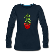 Load image into Gallery viewer, Money Tree Slim Fit Long Sleeve T-Shirt - deep navy