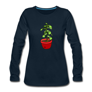 Money Tree Slim Fit Long Sleeve T-Shirt - deep navy