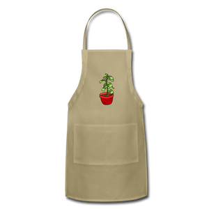Unisex Money Tree Adjustable Apron - khaki