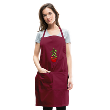 Load image into Gallery viewer, Unisex Money Tree Adjustable Apron - burgundy