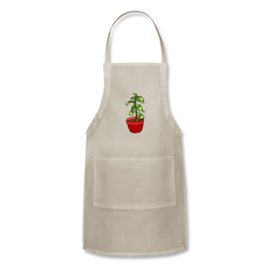 Unisex Money Tree Adjustable Apron - natural
