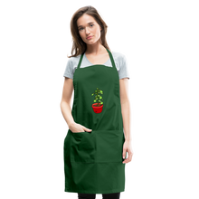 Load image into Gallery viewer, Unisex Money Tree Adjustable Apron - forest green