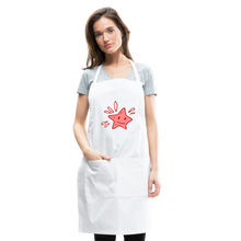 Load image into Gallery viewer, Star Splash Adjustable Apron - white