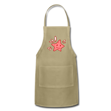 Load image into Gallery viewer, Star Splash Adjustable Apron - khaki