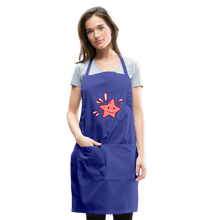 Load image into Gallery viewer, Star Splash Adjustable Apron - royal blue