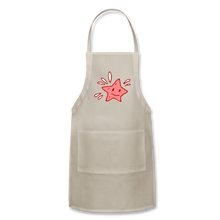 Load image into Gallery viewer, Star Splash Adjustable Apron - natural