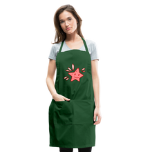 Load image into Gallery viewer, Star Splash Adjustable Apron - forest green