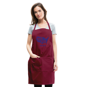 Made in USA Tennessee Adjustable Apron - burgundy