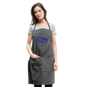 Made in USA Tennessee Adjustable Apron - charcoal