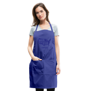 Made in USA Tennessee Adjustable Apron - royal blue