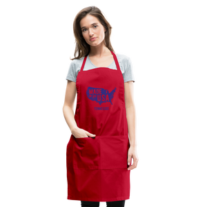 Made in USA Tennessee Adjustable Apron - red