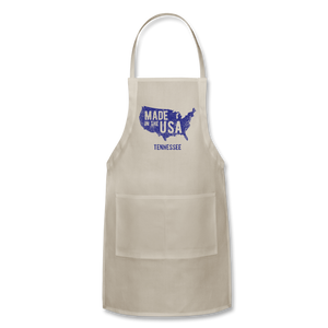 Made in USA Tennessee Adjustable Apron - natural