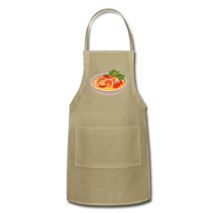 Thailand Shrimp Food Adjustable Apron - khaki