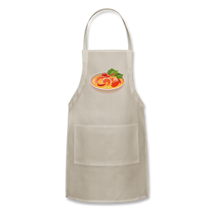 Thailand Shrimp Food Adjustable Apron - natural