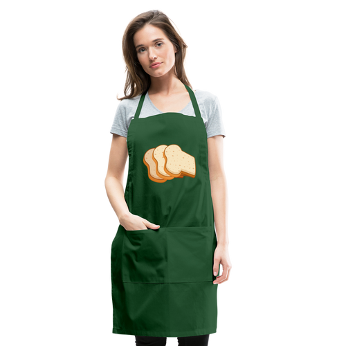 Bread Slices Adjustable Apron - forest green