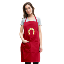 Load image into Gallery viewer, St Paddy Adjustable Apron - red