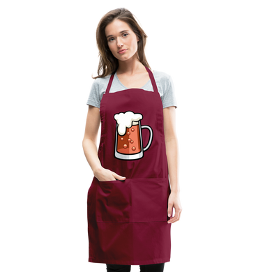 German Beer Adjustable Apron - burgundy