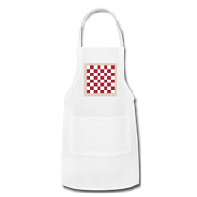 Load image into Gallery viewer, The Chess Board Adjustable Apron - white