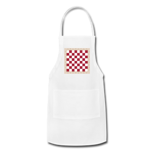 The Chess Board Adjustable Apron - white