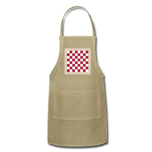 The Chess Board Adjustable Apron - khaki