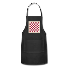 Load image into Gallery viewer, The Chess Board Adjustable Apron - black