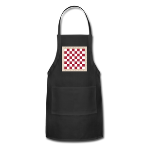 The Chess Board Adjustable Apron - black