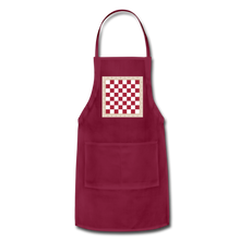Load image into Gallery viewer, The Chess Board Adjustable Apron - burgundy